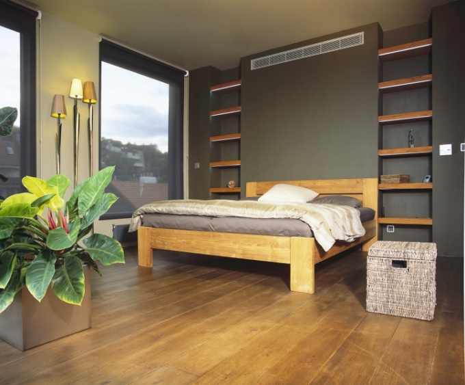 Ložnice a koupelny jsou v loftových bytech většinou jediné oddělené místnosti