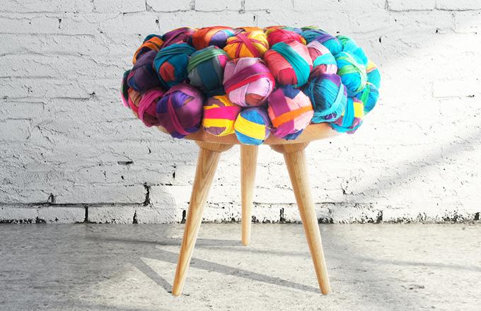 Ekologický nábytek z recyklovaného hedvábí