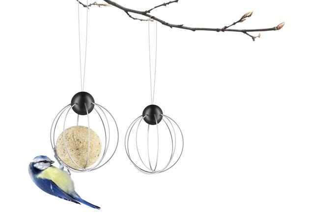 Závěsné krmítko pro ptáky, nerezová ocel/ABS