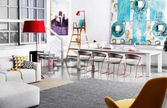 Židle New York, rozkládací stůl Sigma s čtvercovým rozměrem