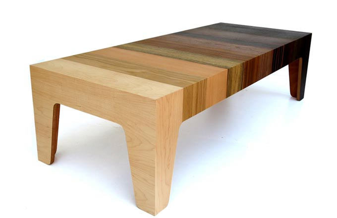 Konferenční stolek propadl trendu ombré!
