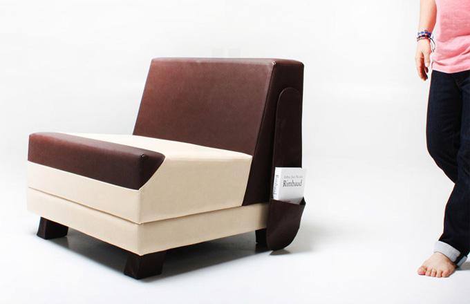 Korejské kožené sofa inspirované psí hlavou