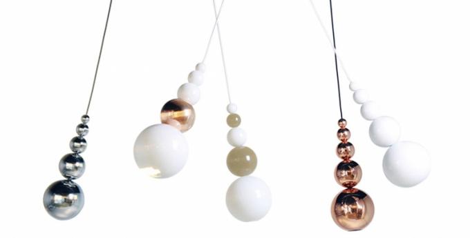 STROPNÍ PŘÍVĚSEK Závěsné svítidlo Bubble spojuje klasický vzhled s moderní LED technologií osvětlení, design Steve Jones, www.innermost.net