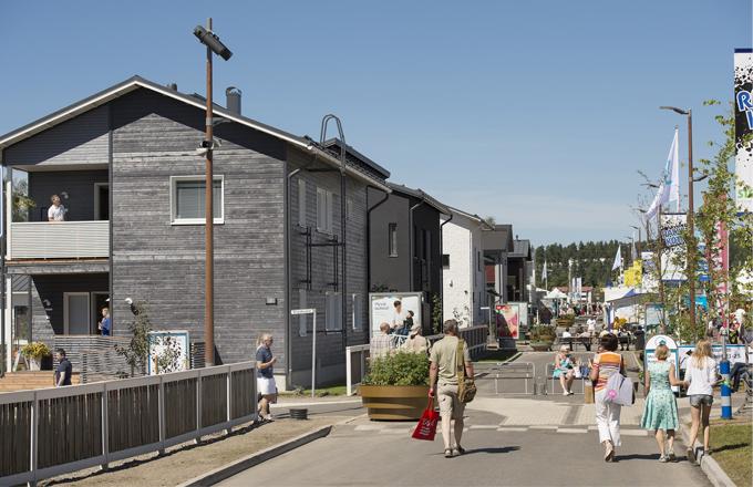 Veletrh Housing Fair: městečko finských domů