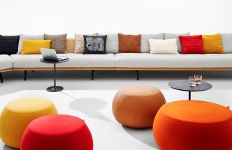 Modulární sedací nábytek Zinta, pufy z kolekce Pix Mini