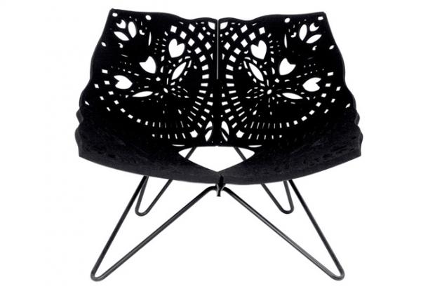 Židle jako vystřihovánka pro dánského prince