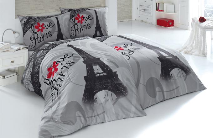Objevte něžné kouzlo Paříže s kolekcí LOVE PARIS. Jedinečný šarm jemných odstínů šedé a syté červené navodí romantickou náladu za každých okolností.
