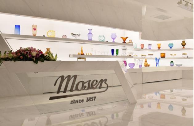 Nová prodejní galerie Moser v Šanghaji