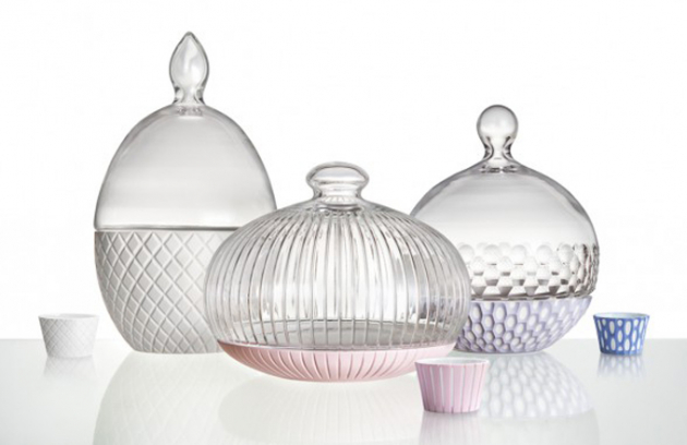 Kolekce Blanc: skleněné nádoby plné sladkosti