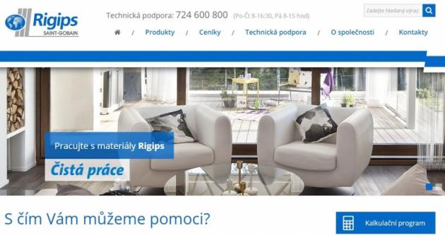 Nové internetové stránky www.rigips.cz
