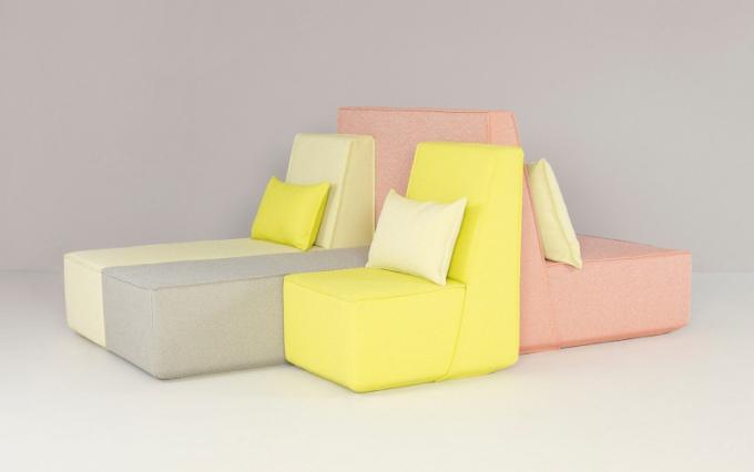 Německé sofa Cubit je jako z marcipánu