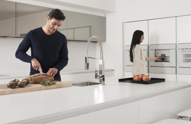 Kuchyňská baterie v kubistickém designu
