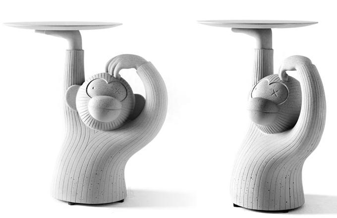 Odkládací stolek Monkey jako kamarád z džungle