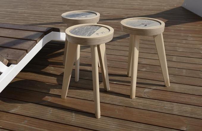 Česká designérka Helena Dařbujánová vytvořila speciální edici stolků z kolekce EmilyJarmilyCecily s motivem Rozmarné léto speciálně pro Český pavilon na milánském Expu.