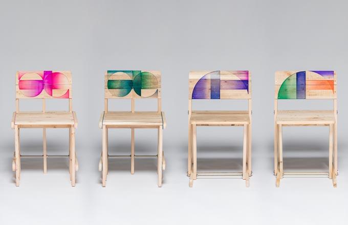 Zrecyklujte palety a získáte nové židle