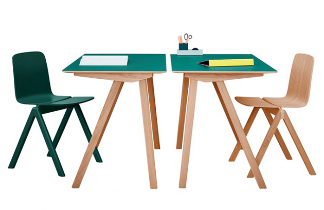 Pracovní stůl Copenhagen CPH90, propracovaný design nesymetrických noh, design Ronan & Erwan Bouroullecovi, vyrábí Hay, cena 16 771 Kč, www.stockist.cz