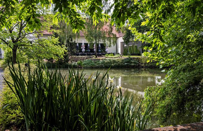 Rozlehlá zahrada nabízí mnoho malebných zákoutí k relaxaci, svatebním obřadům nebo focení