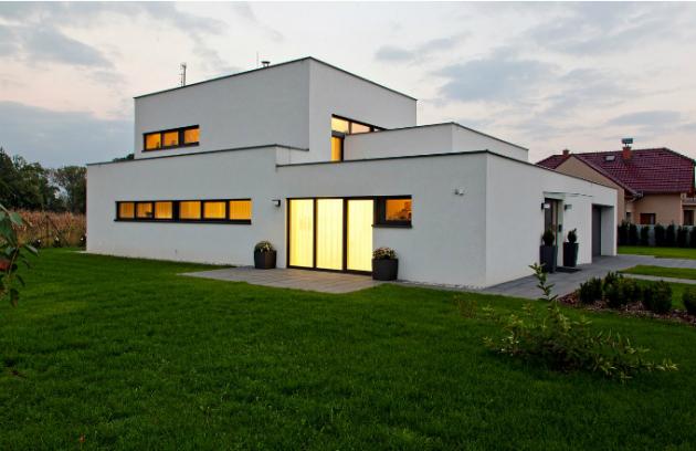 Dům navržený jako energeticky pasivní stavba