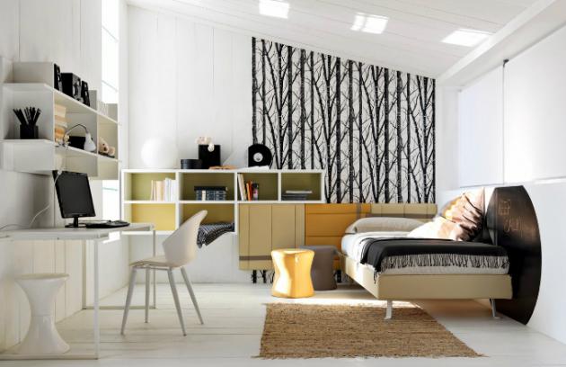 Sestava dětského nábytku, vyrábí Doimo Cityline, cena sestavy 123 210 Kč, www.amber.cz