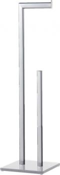 Držák azásobník toaletního papíru, cena 690 Kč/ks Volně stojící držák toaletního papíru ze série GLASS se skleněným podstavcem nabízí jednoduchou instalaci bez nutnosti vrtání či uchycení výrobku dozdi