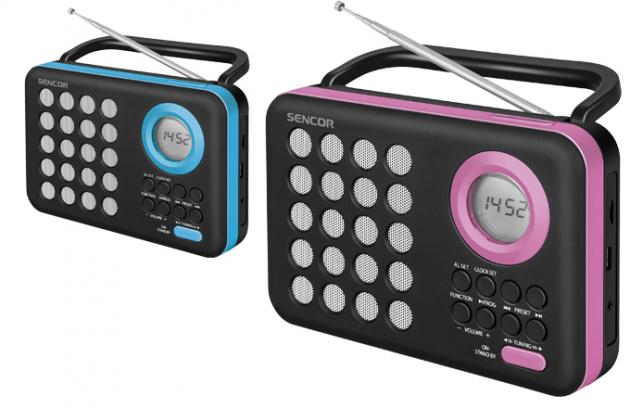 Přenosný digitální PLL FM radiopříjímač S USB/micro SD přehrávačem (SRD 220)