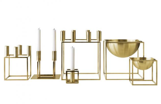 Svícny z kolekce Kubus, pochromovaná mosaz, design Lassen, cena od 2 200 Kč/ks, www.bylassen.com