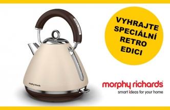 Soutěž o speciální retro edici rychlovarných konvic anglické značky Morphy Richards