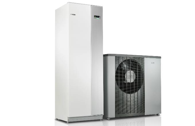 Tepelné čerpadlo systému vzduch-voda NIBE F2120 (energetická třída A+++, SCOP až 5,1) s vnitřní systémovou jednotkou VVM320