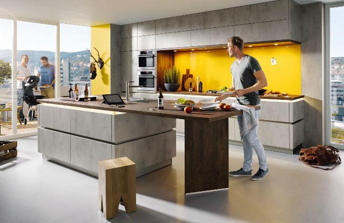 Perfektní kuchyně pro muže, kteří vaří: Elba v provedení beton tmavě šedý