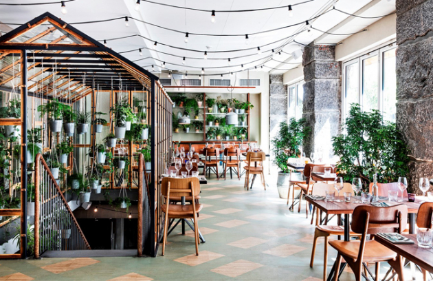 Restaurace Väkst – Růst je zařízením maximálně poplatná svému jménu
