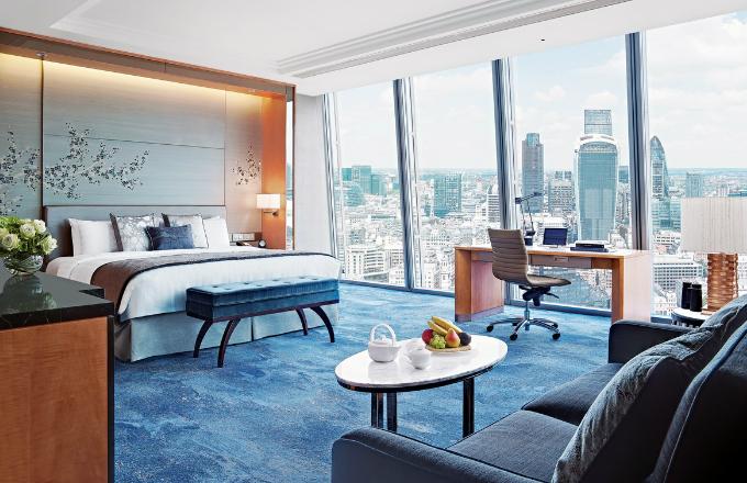 Pokoj Premier City View má překrásný výhled na City, finanční a bankovní centrum Londýna