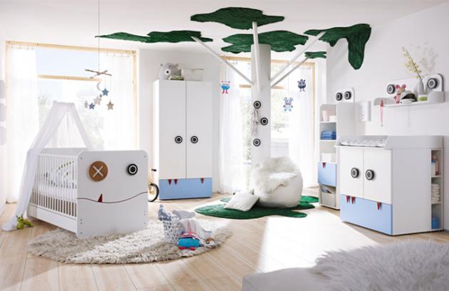 Z nové modelové řady now! minimo by hülsta je příjemný a hravý dětský nábytek, Hülsta, cena zvýhodněné sestavy (postýlka, přebalovací stůl a šatní skříň) 39 172 Kč, www.homestyle.cz