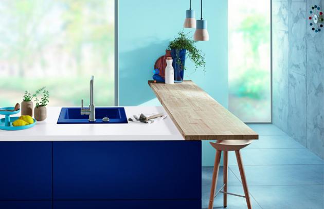 Keramický dřez Subway 50S v odstínu Midnight Blue, 52,5 x 51 cm, Villeroy & Boch, cena od 15 290 Kč, www.siko.cz