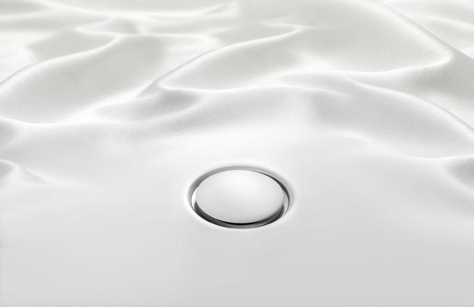 Plochá sprchová vanička Geberit Setaplano. Jemná na dotek.