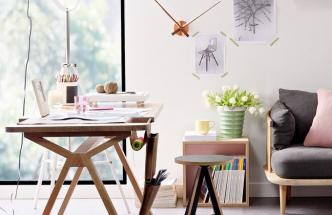 Pokoj vyhrazený pro domácí práce se vzhledově nemusí podobat technické místnosti, může připomínat útulnou pracovnu, v níž budete probouzet svou kreativitu