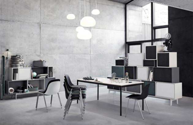Židle Fiber jsou vyrobeny z inovativního biokompozitního materiálu obsahujícího 25 % dřevěných vláken, která jsou dobře viditelná, což dodává židlím nezaměnitelný charakter, výběr z mnoha barevných variant, 51 x 77 x 53 cm, výška sedu 46 cm, design Iskos-Berlin, Muuto, cena 6 390 Kč, www.designville.cz