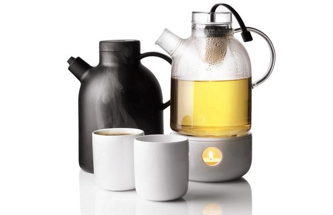 Čajová konvice Kettle teapot, objem 1,5 l, design Norm Architects, Menu, cena 1 959 Kč, ohřívač pro konvici 846 Kč, www.d1one.cz