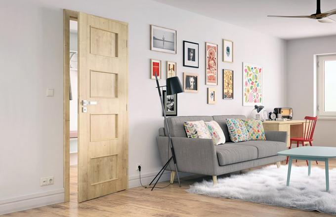 Dveře Styl s povrchem SOLO 3D v imitaci dřeva, dekor dub přírodní, Solodoor, cena od 4 290 Kč, www.solodoor.cz