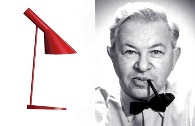 Arne Jacobsen: vyvážená asymetrie lampy AJ