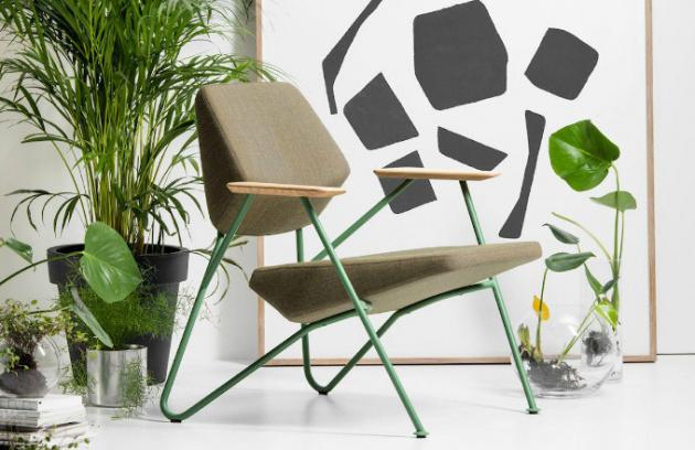 Křeslo Polygon, provedení kov, dřevo a látka, design Numen/Foruse, Prostoria, cena 22 300 Kč