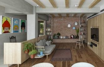 V interiéru vládne barevný minimalismus, který oživuje série čtyř maleb na stěnách