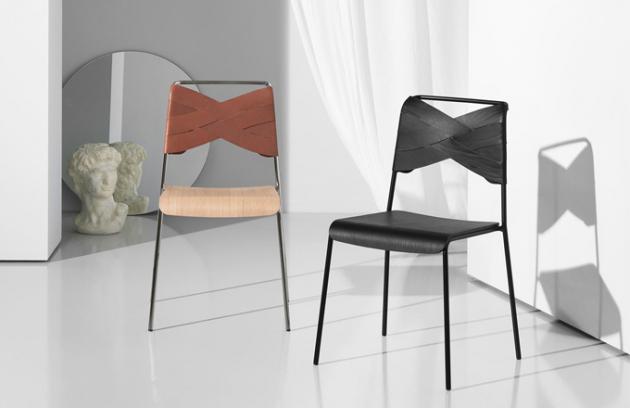 Stohovatelné židle jsou módou sešněrované