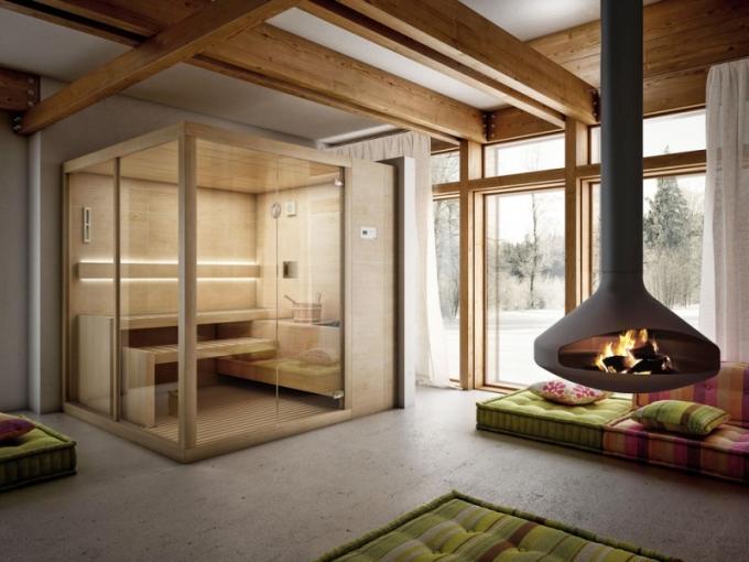 Finská interiérová sauna Arja, 200 x 150 cm, Teuco, cena na dotaz, www.designbath.cz