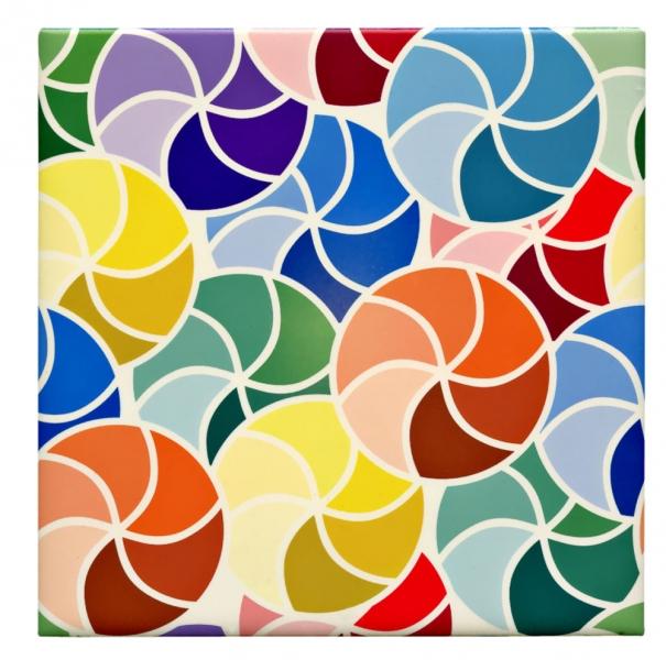 Obklady Colourful Patterned se saténovým povrchem, 20 x 20 cm, výrobce nabízí možnost zpracování vlastního dekoru, Jennoli Art, cena na dotaz, www.jennoliart.com