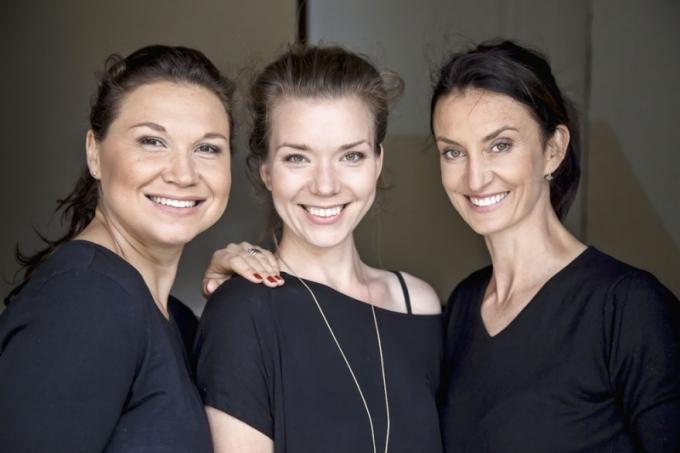 zleva Ing. arch. Jana Boušková, Nina Vydrová, Monika Lněničková