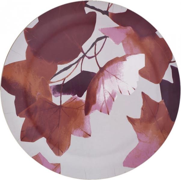 Talíř Vaahtera s motivem javorových listů, vrstvená překližka, O 41 cm, Pentik, cena 1 225 Kč