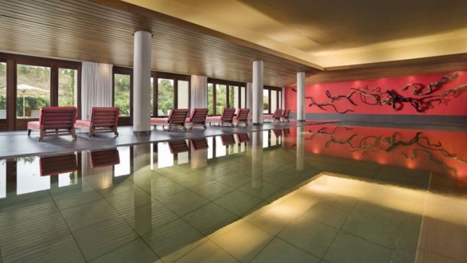 Krytý bazén má plochu 60 m2 a vodu vyhřátou na 29 C