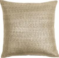 Povlak na polštář Kimallus, stříbrný a zlatý, 45 x 45 cm, bavlna a polyester, Pentik, cena 699 Kč, vyšívaný povlak na polštář Tulppaani, 43 x 43 cm, 100% hedvábí, Pentik, cena 1 029 Kč