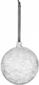 Dekorační koule Lumi, sklo, O 8 cm, bílá a stříbrná, Pentik, cena 149 Kč