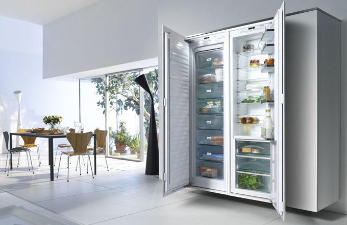 Americký typ chladničky Miele z řady K 30000, 3 zásuvky PerfectFresh s teplotou 0-3 °C, dotykové ovládání, cena k doptání, www.miele.cz